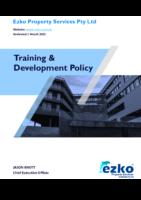 Ezko Training & Development Policy
